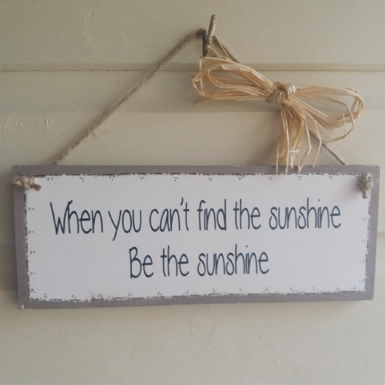 Wooden Handmade Plaque - When You Can't...